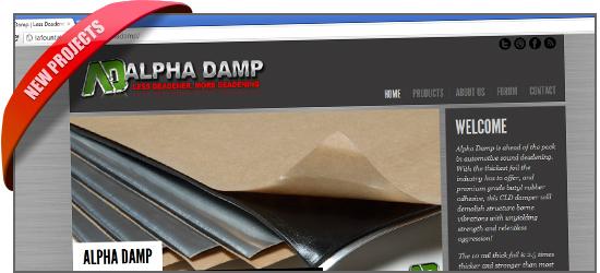 the new AlphaDamp.com website