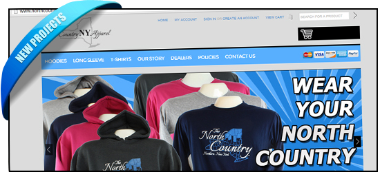 NorthCountryNYApperal.com BigCommerce Store